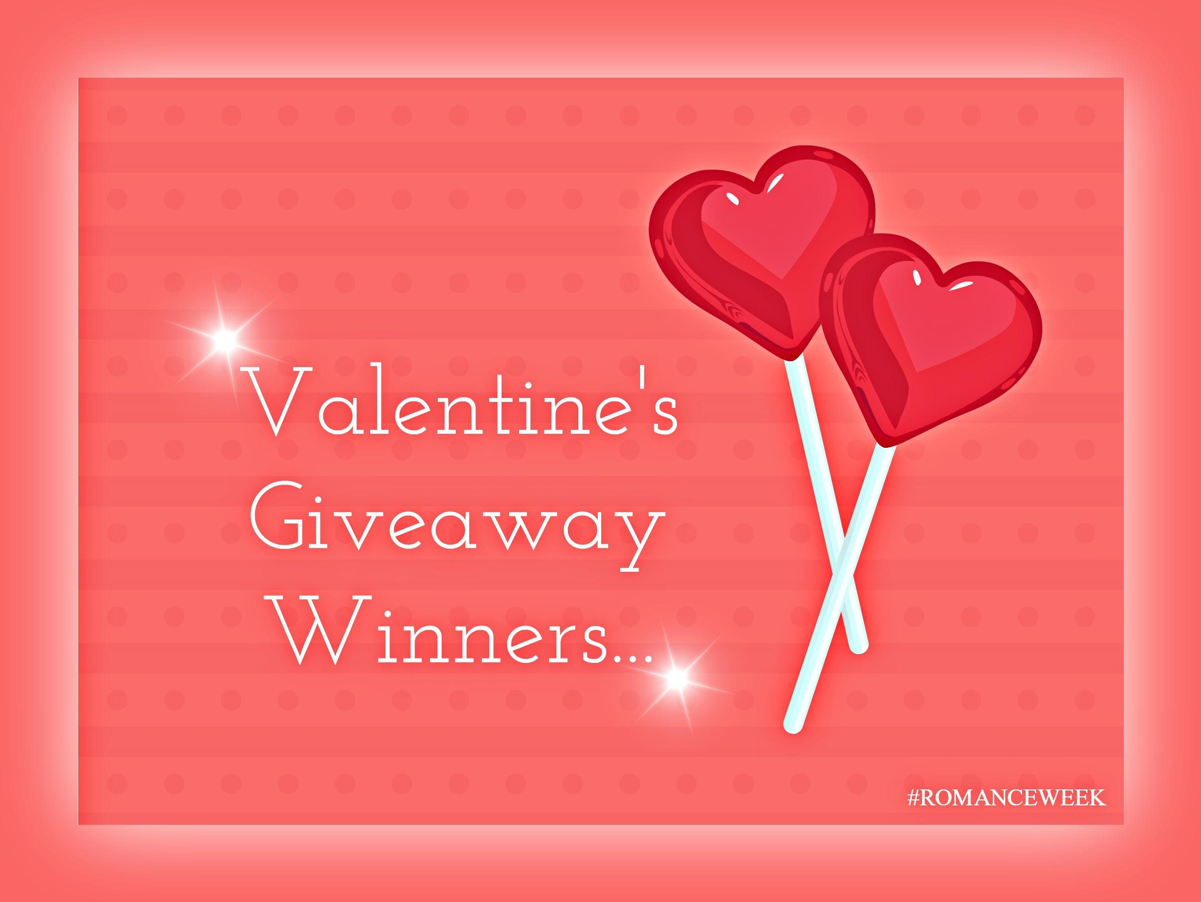 Romance Week Giveaway Winners!